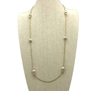 Kate Spade Pearly Delight Long Station Necklace
